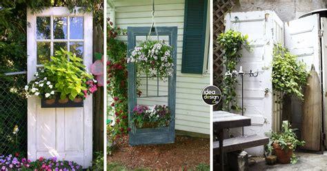 porte da giardino decorare il giardino riciclando le vecchie porte 20 idee