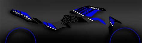 Aufkleber Yamaha Mt 07 by Kit Dekor 100 Def Monster Blau Idgrafix Yamaha Mt