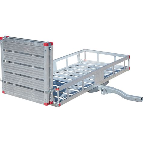 Aluminum Cargo Rack by Ultra Tow Aluminum Folding Cargo Carrier With R 500 Lb Capacity 60in L X 29 1 2in W