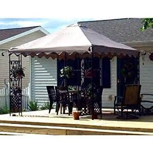 Home Depot Patio Gazebo Replacement Canopy For Home Depot S Leaf Motif Scalloped Edge Gazebo Patio Lawn