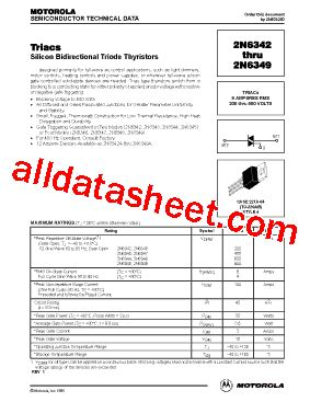 transistor e13009 datasheet pdf 2n6343 fiche technique pdf motorola inc