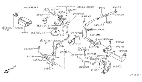 2002 nissan frontier parts diagram engine vacuum piping for 2003 nissan frontier