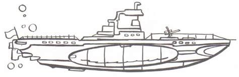barco moderno dibujo submarino m 225 s moderno dibujalia dibujos para colorear