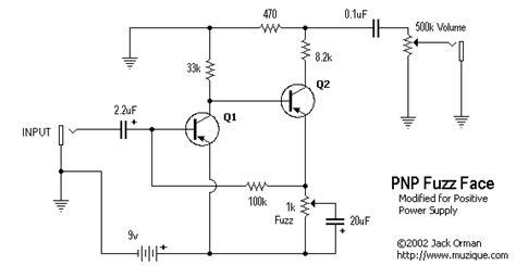 germanium transistor fuzz schematic fuzz turret layout w negative ground and pnp germanium transistors