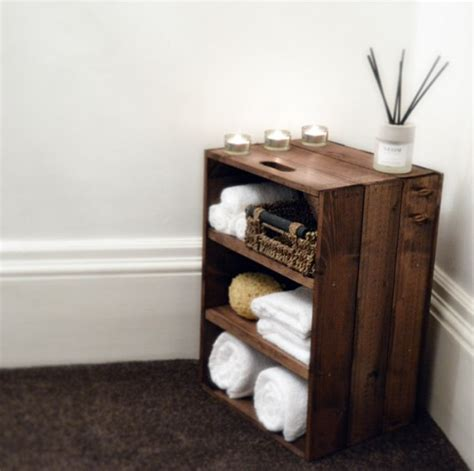 Rustic Wooden Bathroom Bedroom Storage Cabinet Rustic Bathroom Storage