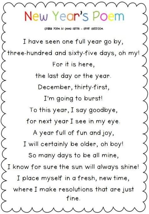 new year poem ks2 51 best new years activities images on
