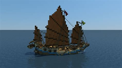 minecraft asian boat minecraft chinese junk youtube