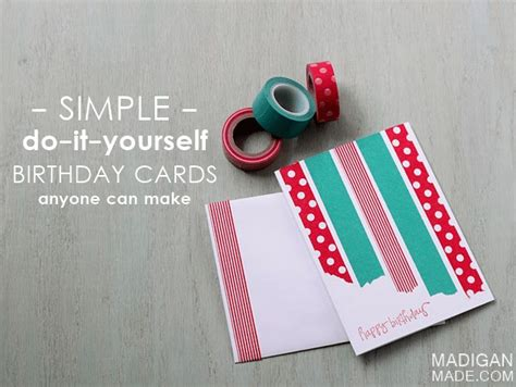 easy birthday card ideas the simplest diy washi cards rosyscription