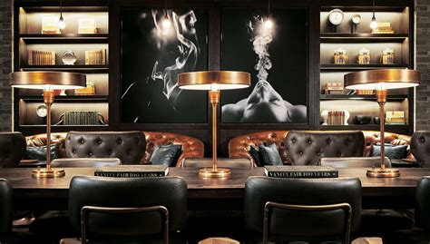 cigar room ideas premium smokes luxury spirits and small plates may soon be joined by food from nobu and