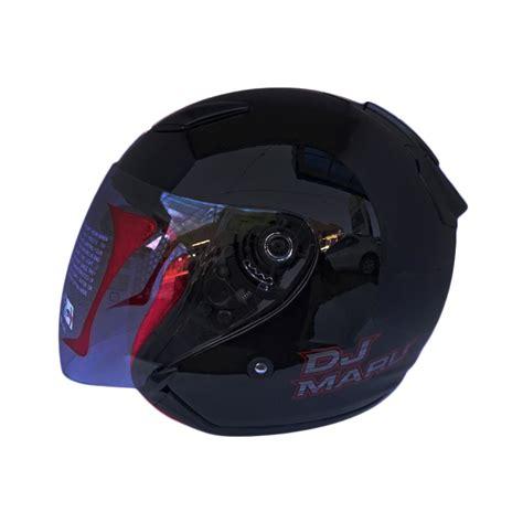 Helm Kyt Dj Maru Half jual kyt dj maru helm half black metalik harga kualitas terjamin blibli