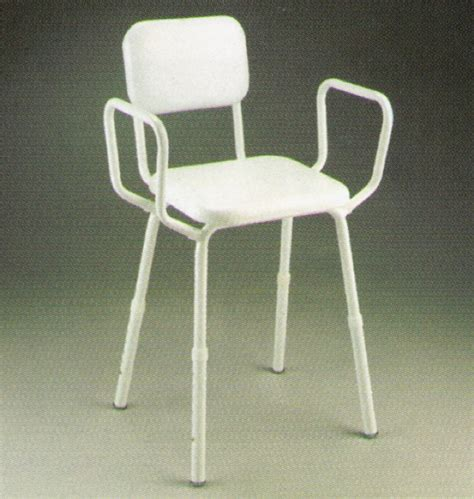 Padded Stools With Backs by Shower Stool Padded With Back B1001pb Ajm Home Health Care