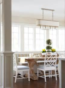 striped banquette cottage dining room muse interiors