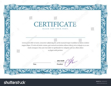 money certificate template certificate template diplomas currency vector