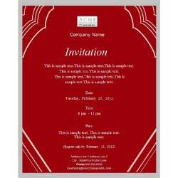 Custom business invitations email templates business email