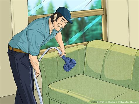 Polyester Sofa Cleaning by How To Clean A Polyester 11 Steps With Pictures