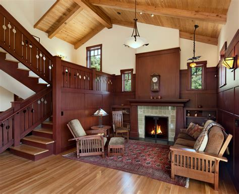 craftsman style living room furniture santa barbara foothills craftsman new construction
