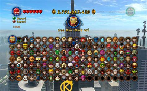 Characters Maps LEGO Marvel Super Heroes Game Guide & Walkthrough gamepressure.com