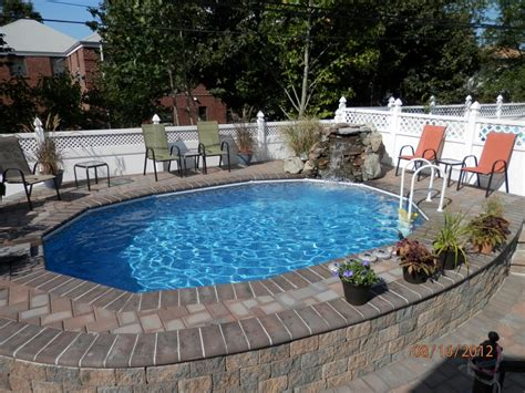 in ground pool ideas semi inground pools with decks high rise semi inground