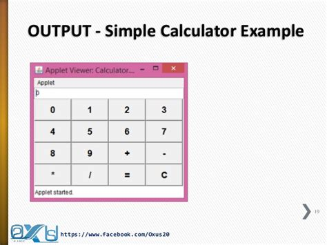 calculator using applet java applet and graphics
