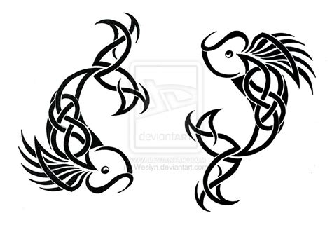 celtic pisces tattoo designs pisces tribal by weslyn on deviantart