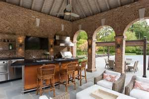 Pool Pavilion Designs the pool pavilion dining area is serviced by a professional grill and