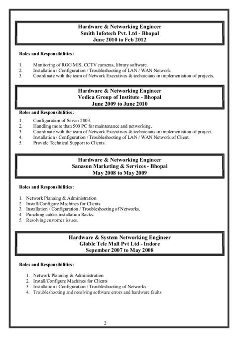 resume for hardware networking hardware and networking resume resume ideas