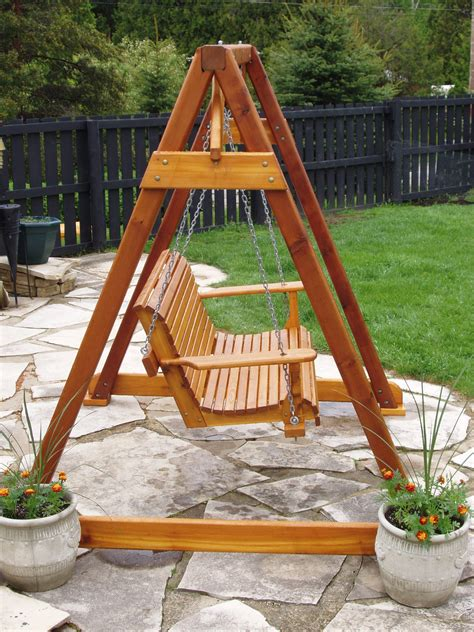 porch swing a frame build diy how to build a frame porch swing stand pdf plans