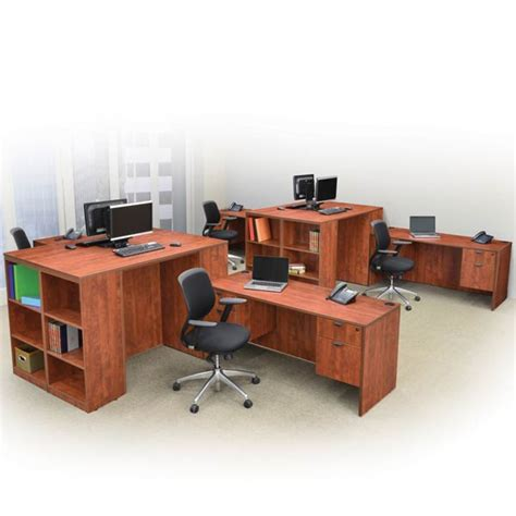 office furniture stand up desk regency office furniture legacy standing height desk w bookcase end 85 quot w x 46 quot d