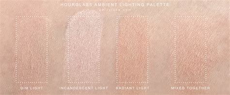 Hourglass Ambient Lighting Powder Swatches by The Highlighter Chronicles Hourglass Ambient Lighting