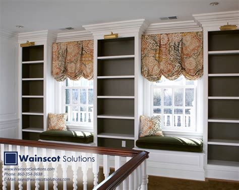 Wainscot Solutions Built In Book Shelf Designs By Wainscot Solutions Modern