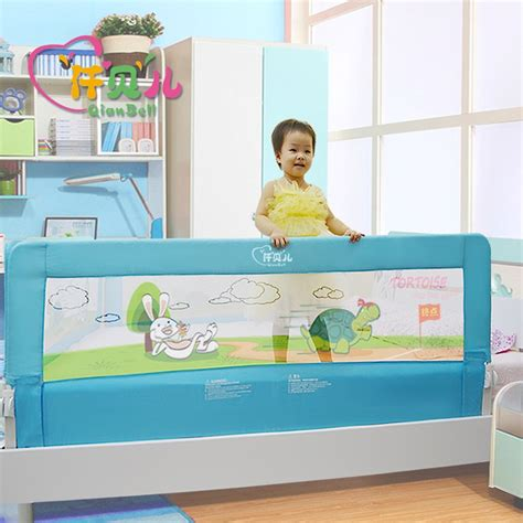 baby falling off bed general use 120cm150cm180 baby bed guard pink and blue color baby fence 68cm quality