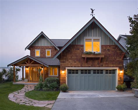 Exterior Garage Doors Craftsman Style Garage Doors Exterior Rustic With Entry Covered Entry