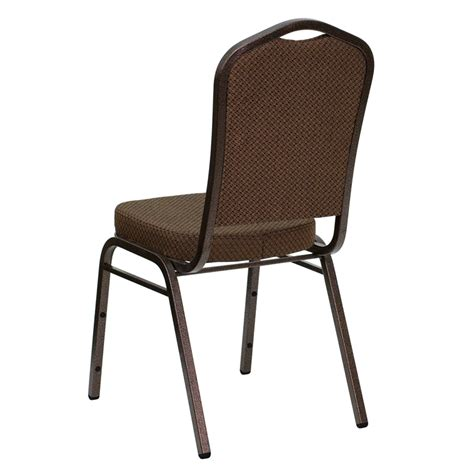 brown patterned chair hercules series crown back stacking banquet chair in brown