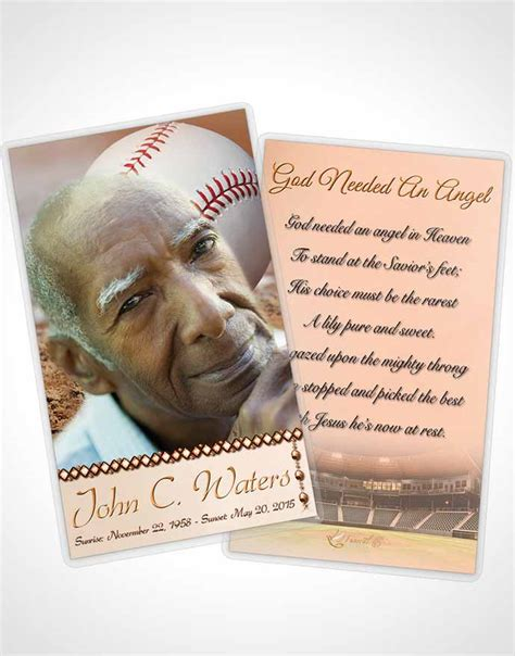 4x2 prayer card template prayer card template baseball day early morning