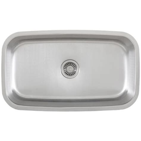 Single Basin Stainless Steel Undermount Kitchen Sink 30 Inch Stainless Steel Undermount Single Bowl Kitchen Sink 18