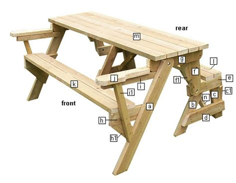 free folding picnic table bench plans pdf folding picnic table free plans tool requirements and