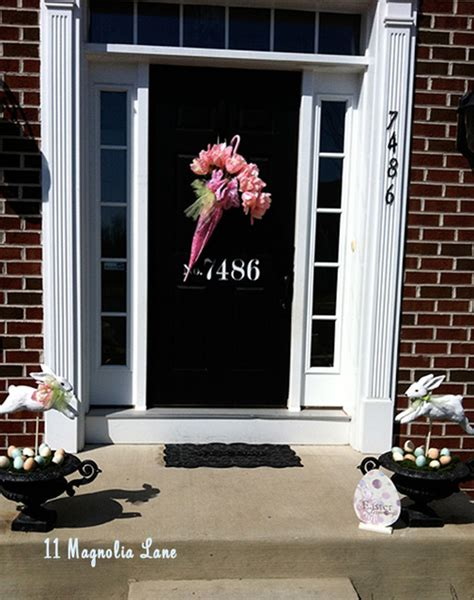 spring decorating ideas for your front door top 11 easter front porch decors easy garden design for