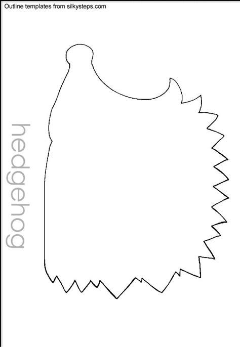 hedgehog hibernation outline template perfect patterns