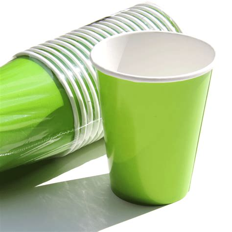 neon green paper cups lime green party supplies party
