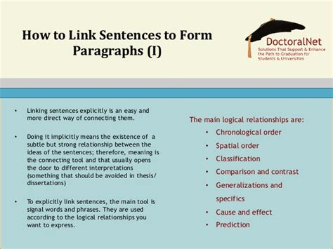 Linking Sentences In Essays Exles by Writing Thesis Dissertation Chapters Paragraphs And
