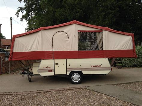 trailer tent awning pennine pullman folding cer trailer tent lightweight 700kg with awning ebay