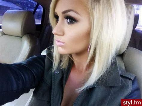 blonde that just got her hair cut short blonde hair love her makeup hey girl hey follow