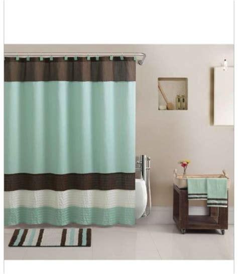 Modern Bathroom Rugs And Towels Aqua Blue Brown Towels Rug Shower Curtain Modern Bath In A
