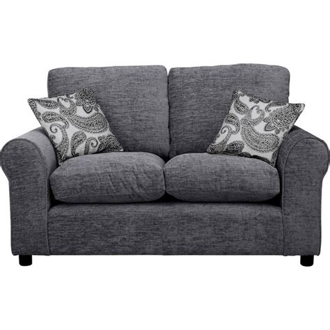 how to buy sofa buy home tabitha compact 2 seater fabric sofa charcoal