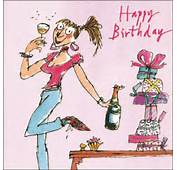Quentin Blake Female Happy Birthday Greeting Card  Cards Love Kates