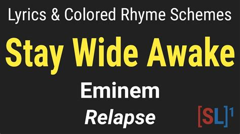 colored lyrics eminem stay wide awake lyric colored rhyme