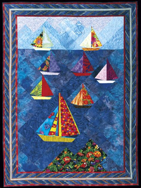 Sailing Quilt by Clear Sailing Aqs