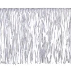 Upholstery Fringe Trim 6 Quot Chainette Fringe Trim White Discount Designer Fabric