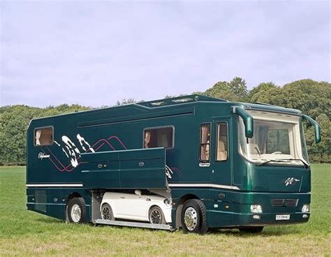 volkner rv volkner mobil luxury motor home with space for a supercar