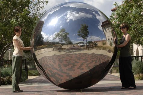 large hollow stainless steel sphere for garden square